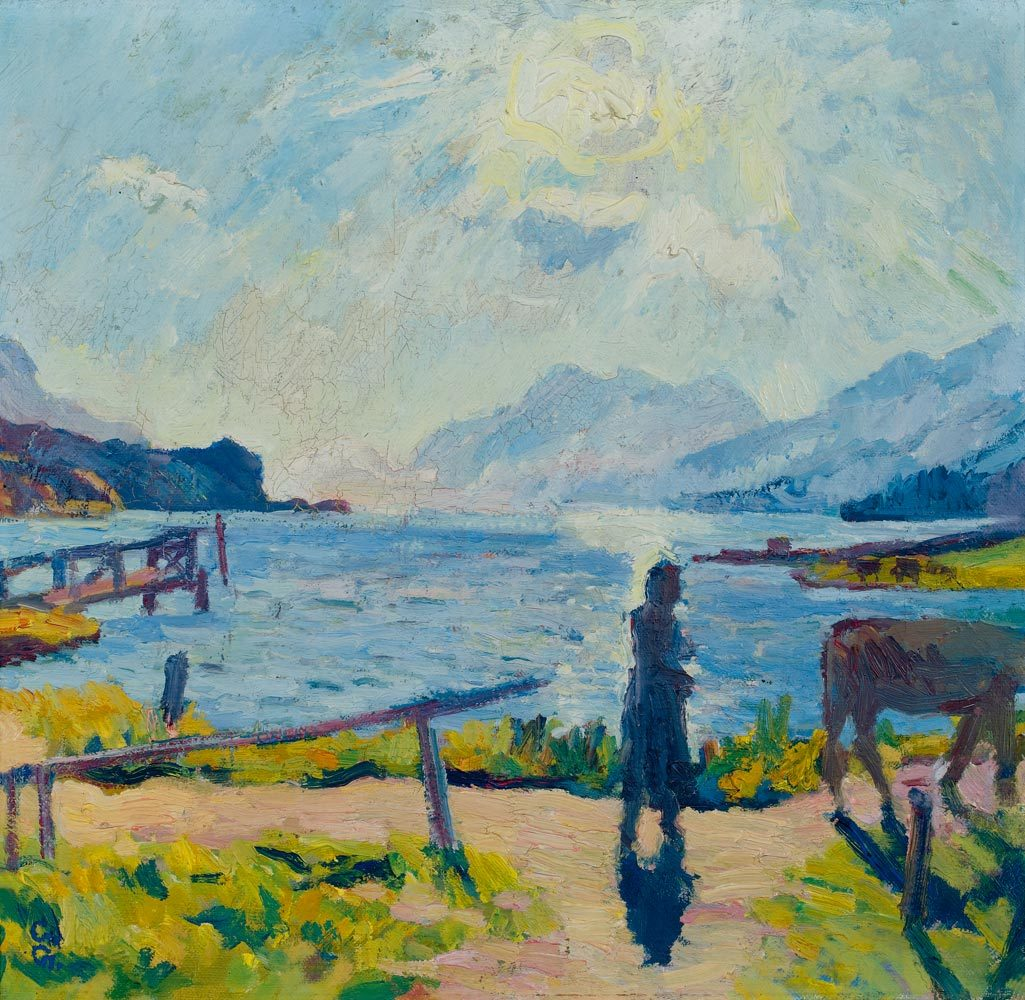 amare-habeo:    Giovanni Giacometti (Swiss, 1868 - 1933)  Morning Sun at the Lake Sils , 1924