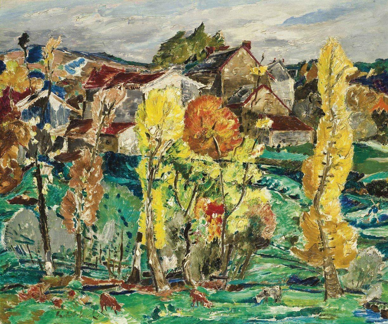 Aleksei Gritchenko (1883-1977) Automne de novembre, Le Breuil, Peyrat-le-Château