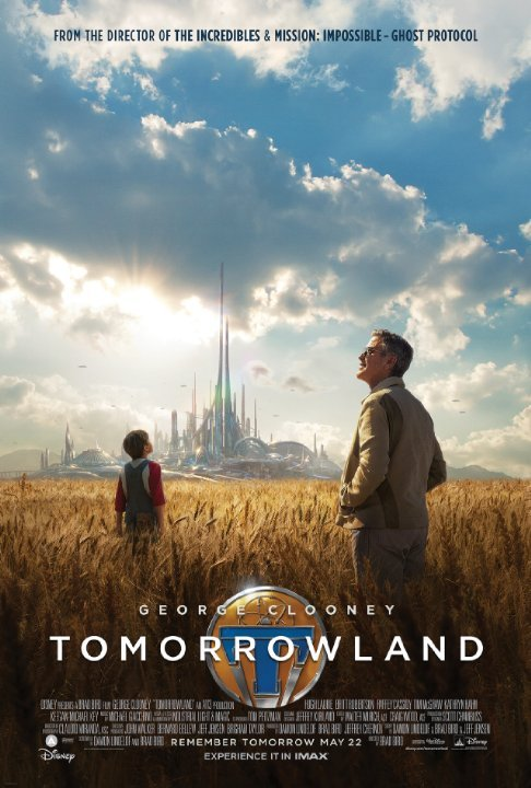 TomorrowlandReview by Miranda BoyerTomorrowland attempts<br /><br /><br /> to turn the heads of youth who have become increasingly pessimistic about their<br /><br /><br /> ability to make a positive impact on the world. Tomorrowland promises a better tomorrow. Casey Newton (Britt Robertson) is an intelligent,<br /><br /><br /> passionate, optimistic young woman. Her father (Tim McGraw) is on the fast<br /><br /><br /> track to loosing his job with NASA as he nears completion of his job<br /><br /><br /> disassembling one of it's legendary shuttle launch pads. In the middle of the<br /><br /><br /> night, via stealthy ninja moves, Casey disables equipment to ensure that her father's<br /><br /><br /> work will take a little longer, delaying the inevitable. Eventually Casey is<br /><br /><br /> caught red handed so to speak and taken to jail. When she is released, by the<br /><br /><br /> grace of her father's boss, she discovers a pin with the letter 'T' among her<br /><br /><br /> belongings that shows her a vision of a futuristic world. Eventually the pin looses its power, and Casey goes in<br /><br /><br /> search of anyone who can provide her with more information. She uncovers a conspiracy<br /><br /><br /> that proves that the Utopia is both real, and that the world is in danger of a<br /><br /><br /> catastrophic ending. With the help of Frank (George Clooney) and Android Athena<br /><br /><br /> (Raffey Cassidy), Casey sets out to save the future. I grew up about an hour away from Disneyland and spent many days<br /><br /><br /> of my youth wandering the park riding rides and living in my own fantasy where Tomorrowland was real. Eventually my family moved away, but we still<br /><br /><br /> managed to visit family once a year and of course there was always Disneyland. I might have a<br /><br /><br /> soft spot for this movie, as it plays on the imaginations of the young, and the<br /><br /><br /> memories of the old. Tomorrowland is a<br /><br /><br /> sincere idealistic film that asks the viewer to try harder. Pointing out that<br /><br /><br /> while we gobble up the idea of dystopian societies and destruction, we often never<br /><br /><br /> lifting a hand to better our own world. It's easier to put it off, forever procrastinating.<br /><br /><br /> Yes this movie asks the viewer to think twice about the earth, but I don't see<br /><br /><br /> this as a bad thing. Why is it a fauxpas to want a better future? Why is it<br /><br /><br /> wrong to be optimistic? Tomorrowland asks<br /><br /><br /> you to set aside the negative and dream big. I for one enjoy dreaming big.
