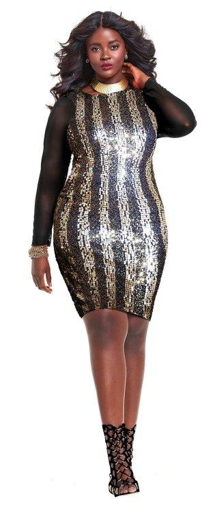 "Philomena KwaoinMonif C""Judith"" Sequin Dress - Gold"