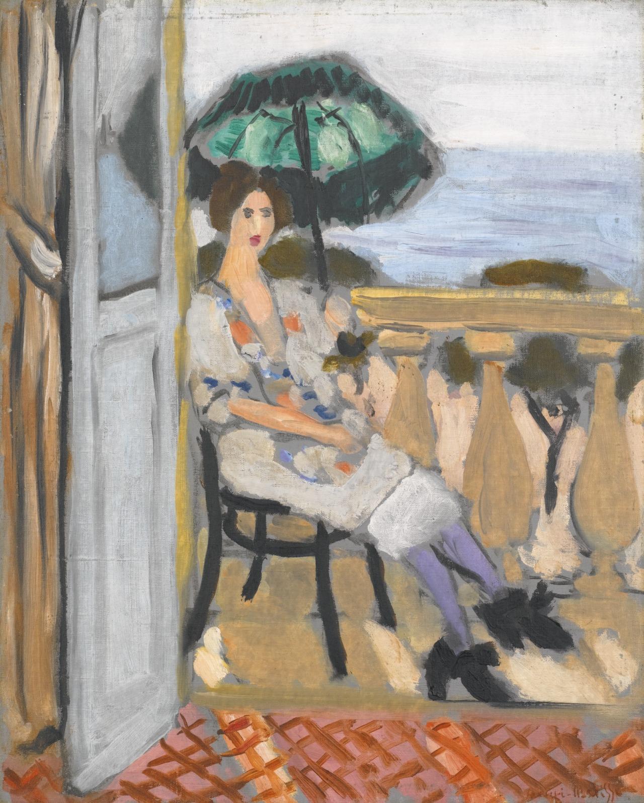 artexpert:  Femme à l'ombrelle verte (1919) - Henri Matisse