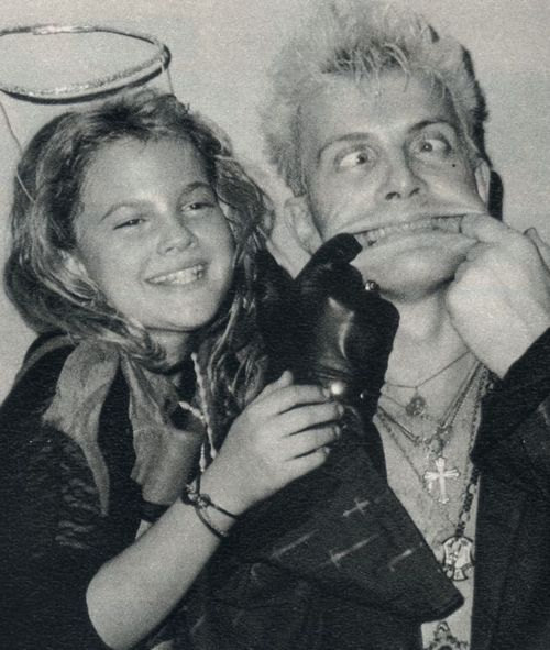 Drew Barrymore and Billy Idol