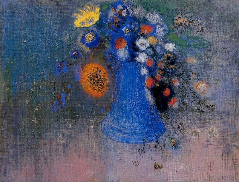 art-centric: Vase of Flowers Odilon Redon,