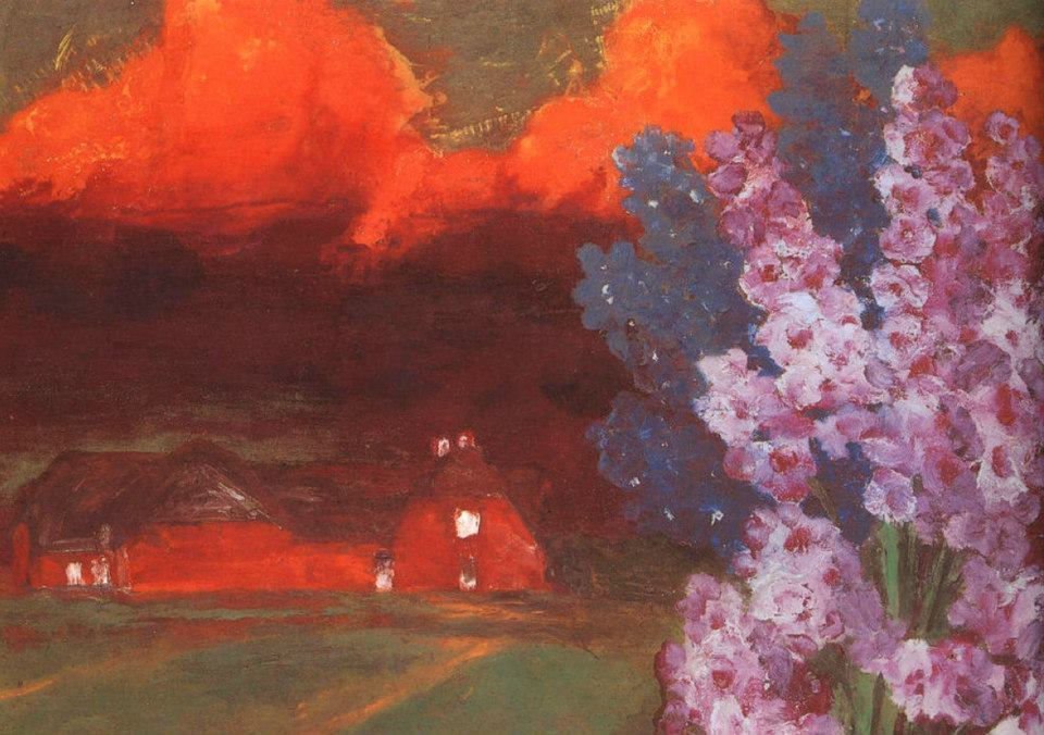 """Emil Nolde, """"Muggy Evening"""" (also known as Sultry Landscape), 1930"""