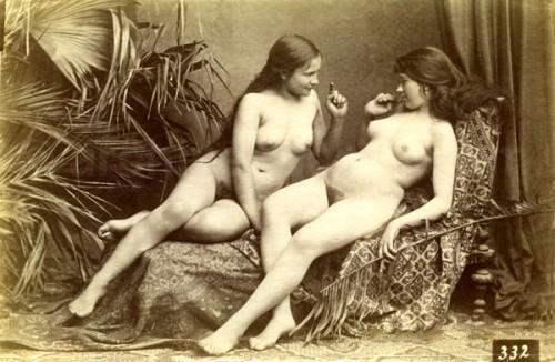 Pretty vintage nude ladies. Lesbian seduction?