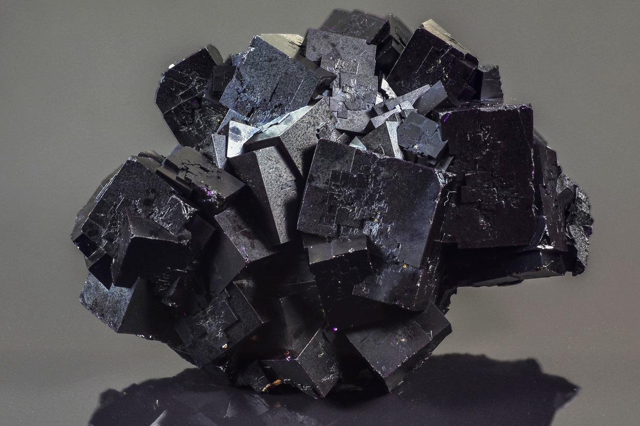 Black Fluorite - Bergmännisch Glück Mine, Frohnau, Erzgebirge, Saxony, Germany