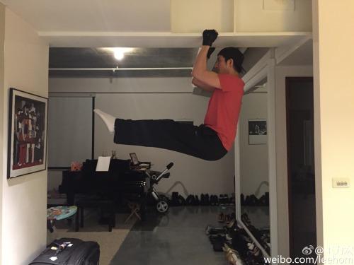 Wang Leehom's creative exercising