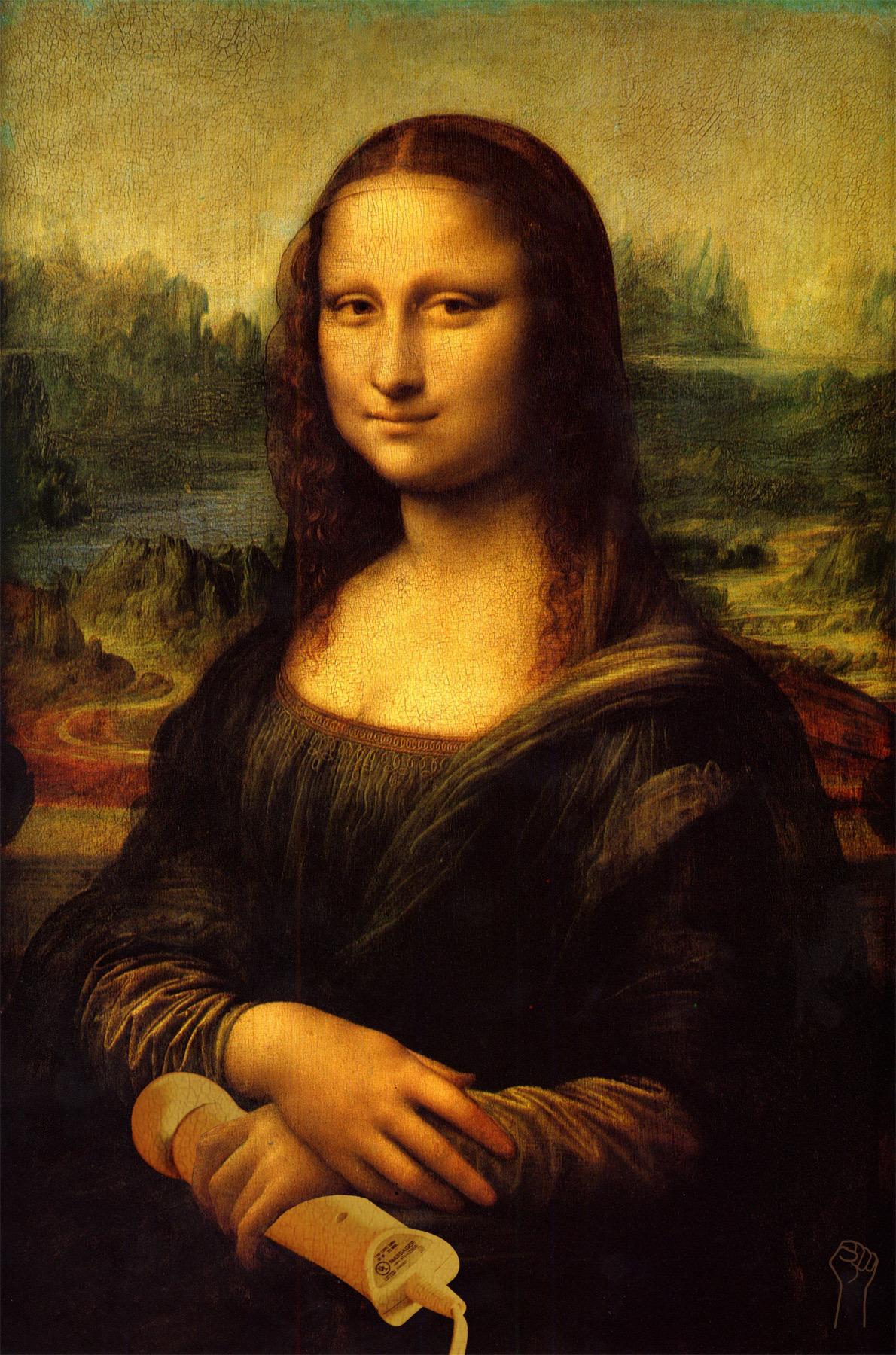 Mona Lisa with Hitachi by Leonardo Da Vinci.