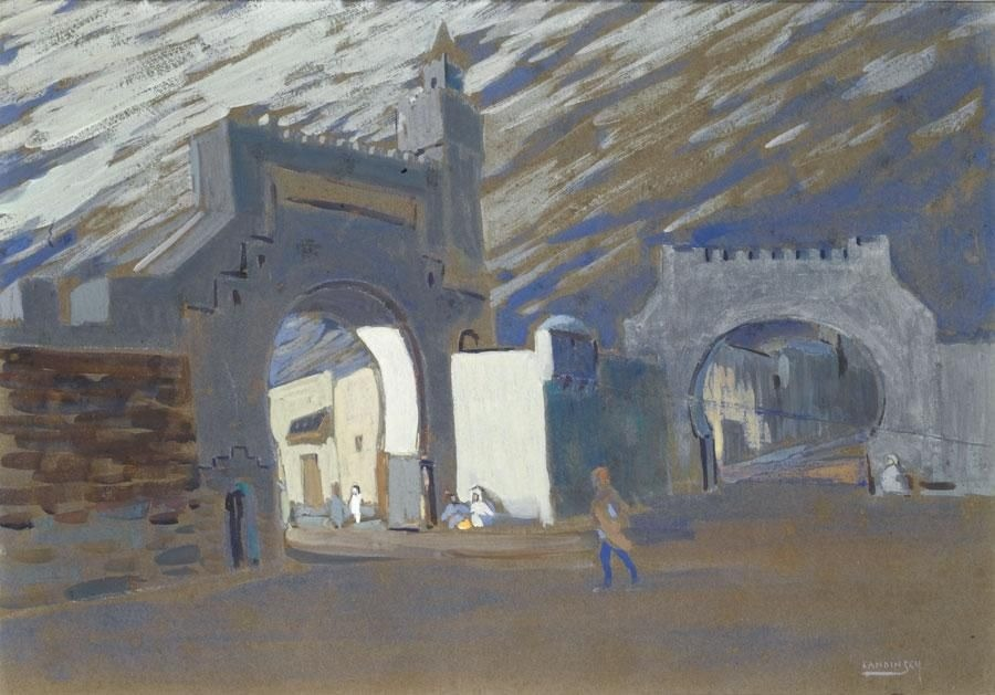 thunderstruck9: Wassily Kandinsky (Russian, 1866-1944), Bab Souika in Tunis - Moonlit Night, 1905. Gouache on board, 38 x 52.8 cm.