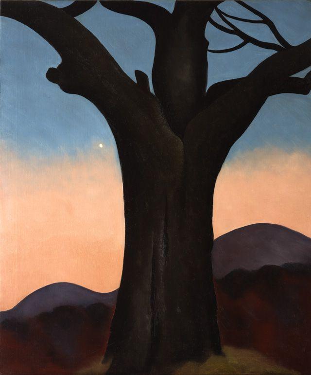 thewoodbetween:  Georgia O'Keeffe. The Chestnut Grey, 1924.