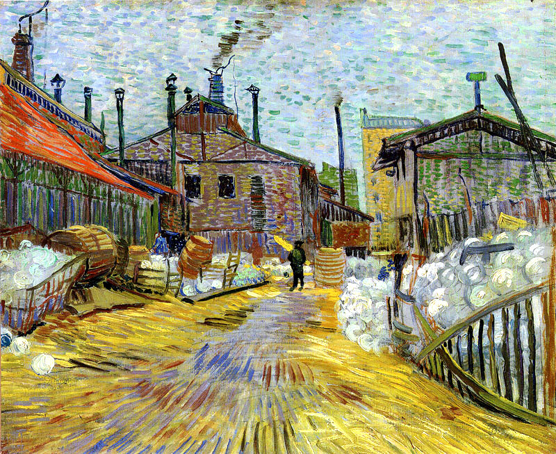 dappledwithshadow: Vincent van GoghA factory at Asnières188746.5 x 54 cmOil on canvas