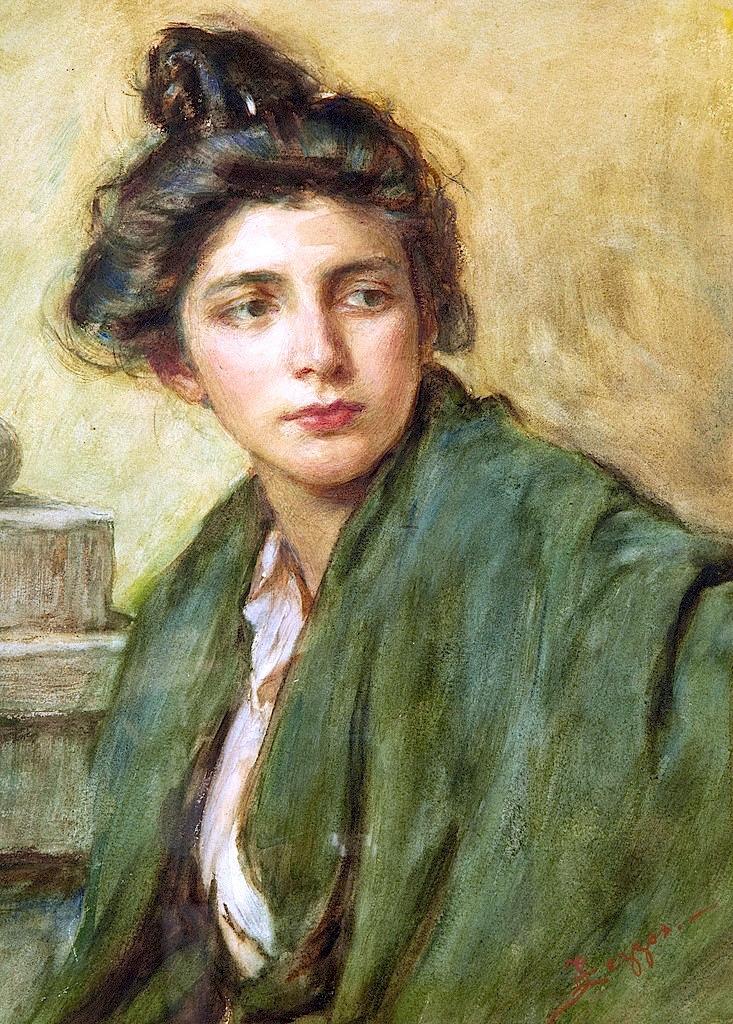 bofransson: Alessandro Zezzos - Portrait Of A Woman With A Chignon