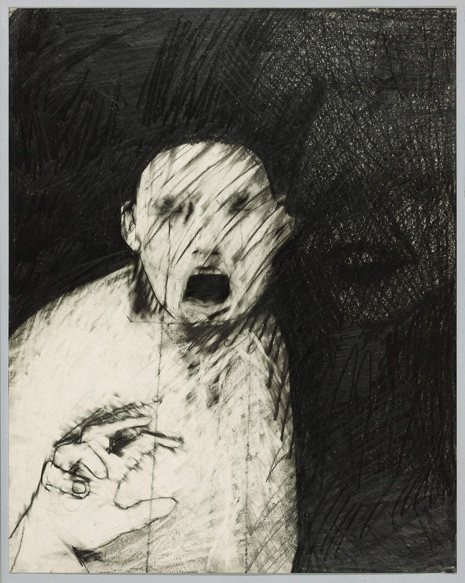 thunderstruck9:Rick Bartow (American, 1946-2016), Things You Know But Cannot Explain, 1979. Graphite on paper, 24 x 19 in.