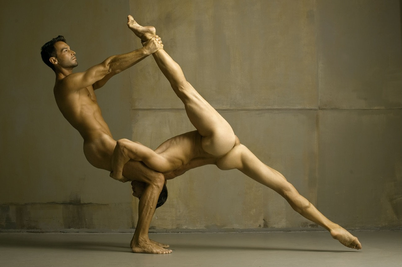 naked acro-yoga
