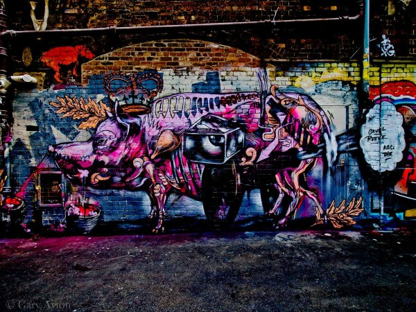 alley graffiti art