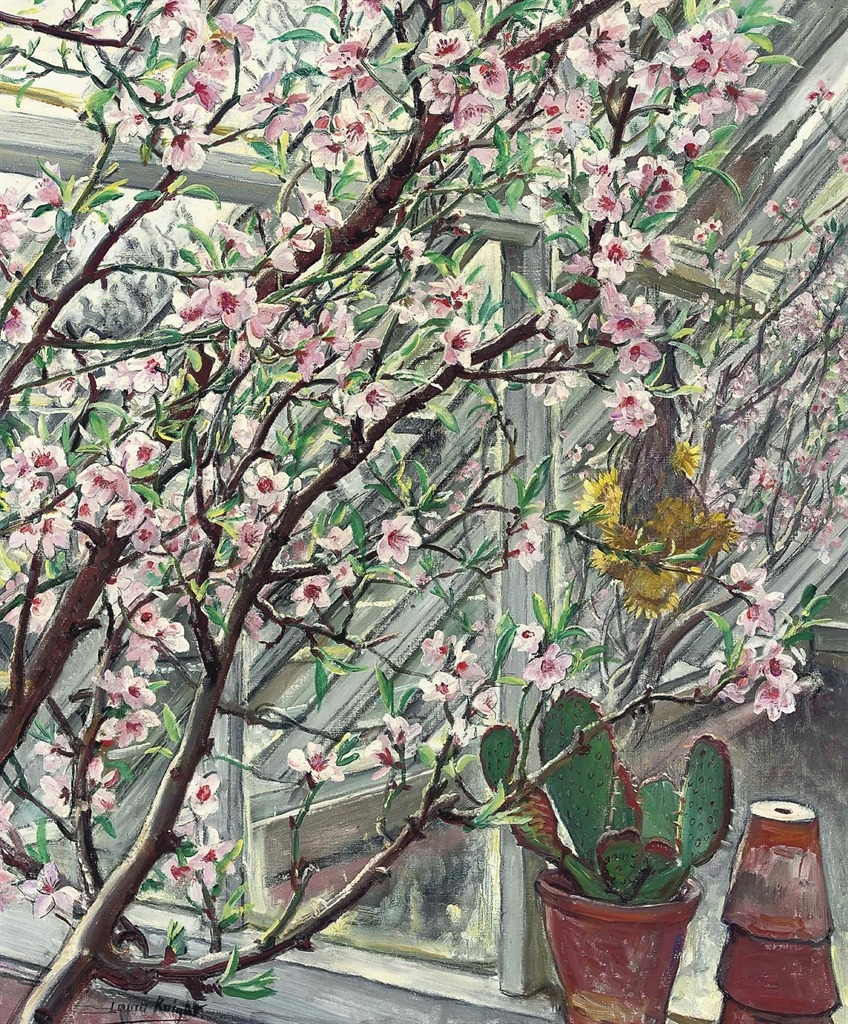 birdsong217:</p><br /><p>Laura Knight (English, 1877-1970)Peach Blossom, n/d.Oil on canvas
