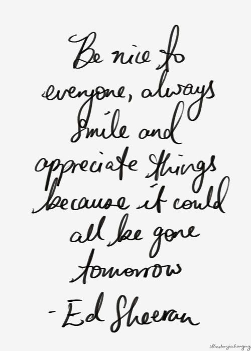 Be nice // Monday Quotes / Powerful Positivity