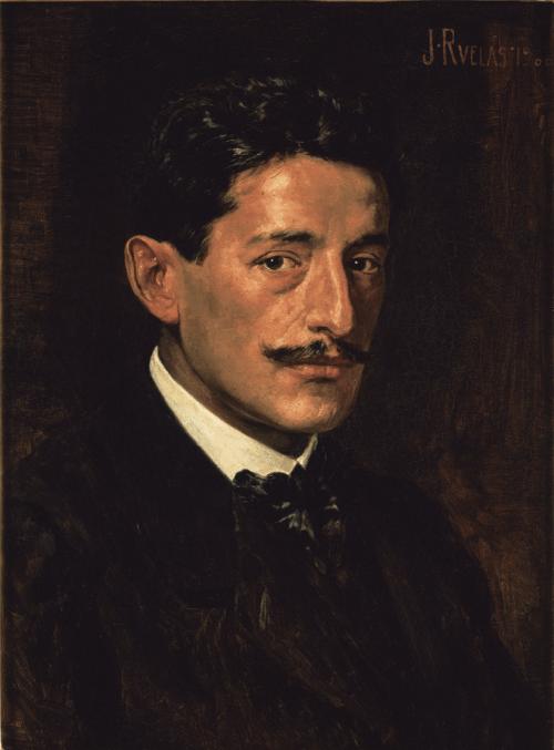 """Julio Ruelas - """"Autorretrato"""" 1900"""