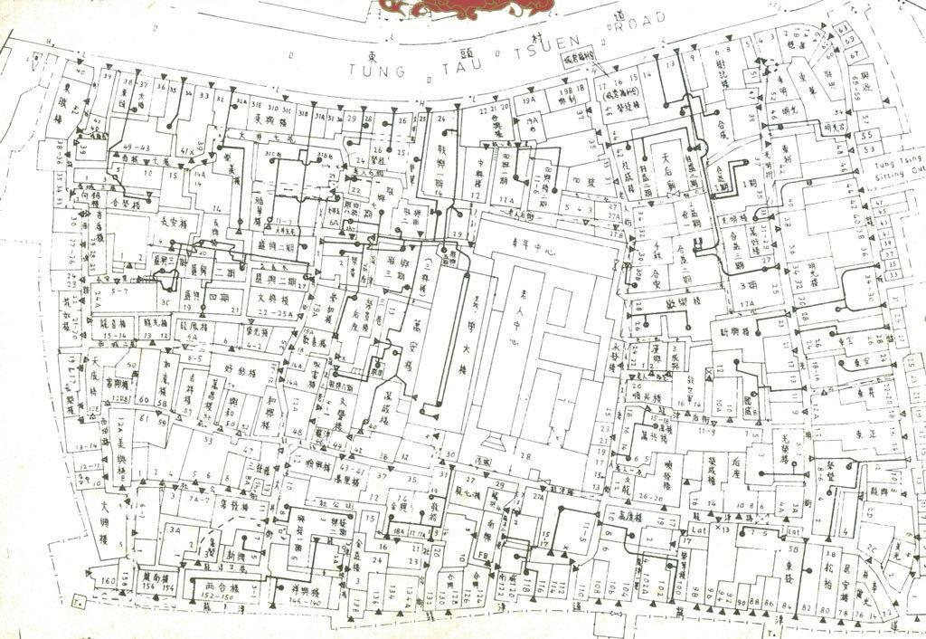 Andrea Carpita, Kowloon Walled City, mappa della vecchia Kowloon (Hong Kong)