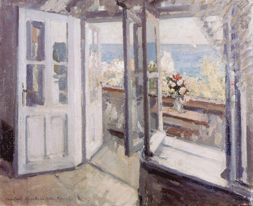 artishardgr: Konstantin Korovin - Balcony in the Crimea 1910