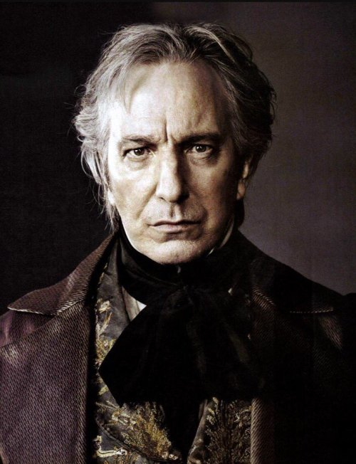 "bookmania:  ""Each character I play has different dimensions. I'm not interested in words that pull them together."" ~ English actor Alan Rickman (1946-2016)"
