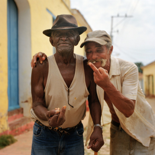 Nicolas Demeersman aka Pretty Punk (b. 1978, Seclin) - Papis revelers, Trinidad, Cuba, 2010 from ongoing Fucking Tourist series 2009-2014 Photography