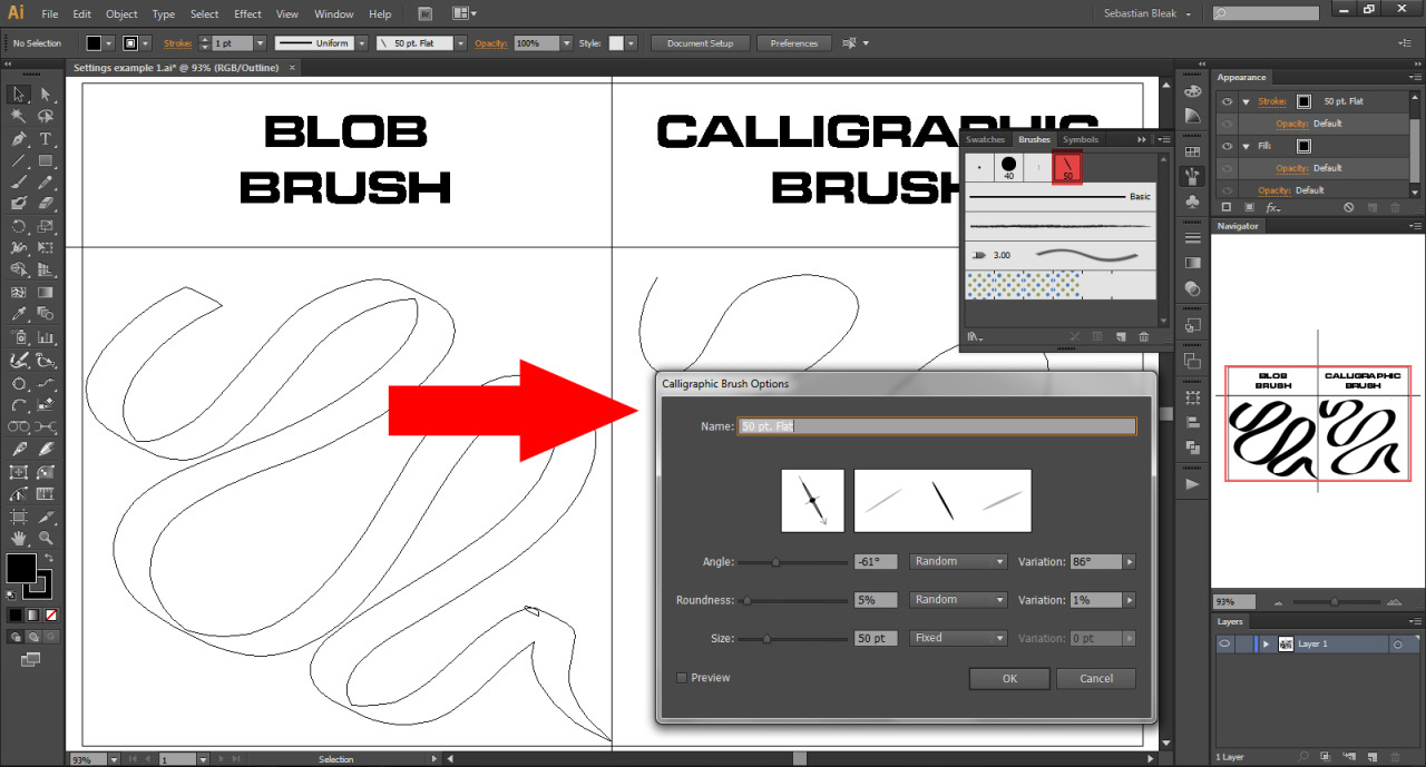 Adobe Illustrator Blob Brush Calligraphic Brush