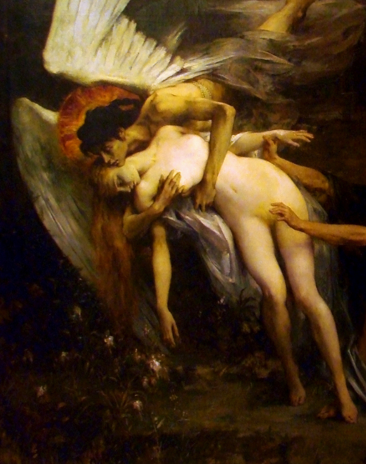 Henri Lévy, Death and the Maiden, detail, 1900