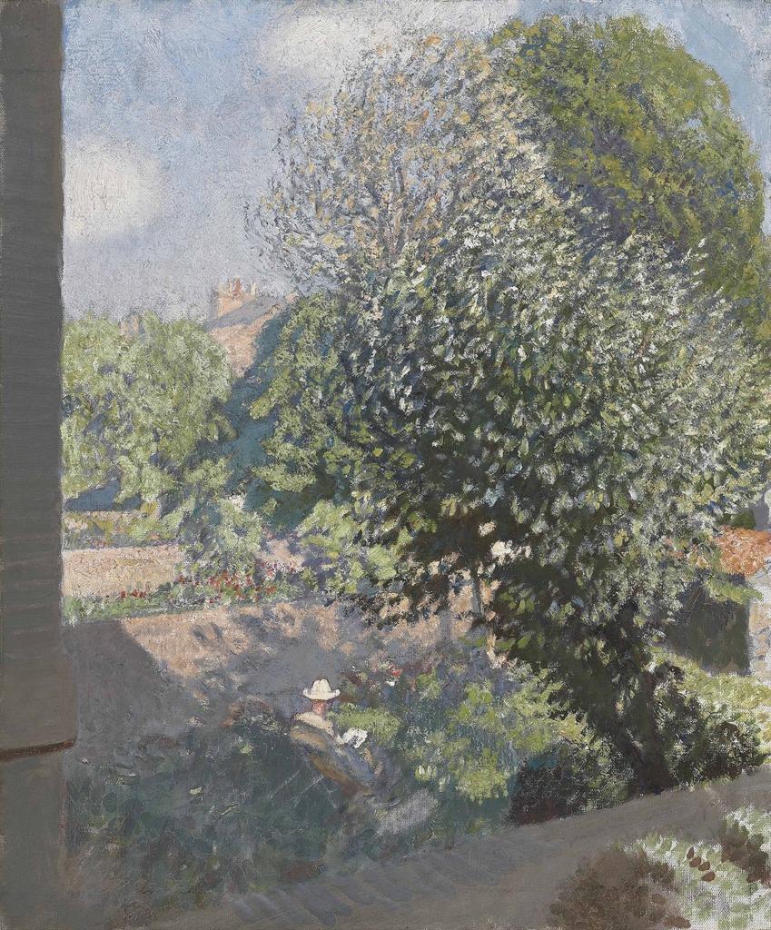 thunderstruck9:  George Clausen (British 1852-1944), A Shady Corner. Oil on canvas, 62.2 x 51.4 cm. viahuariqueje