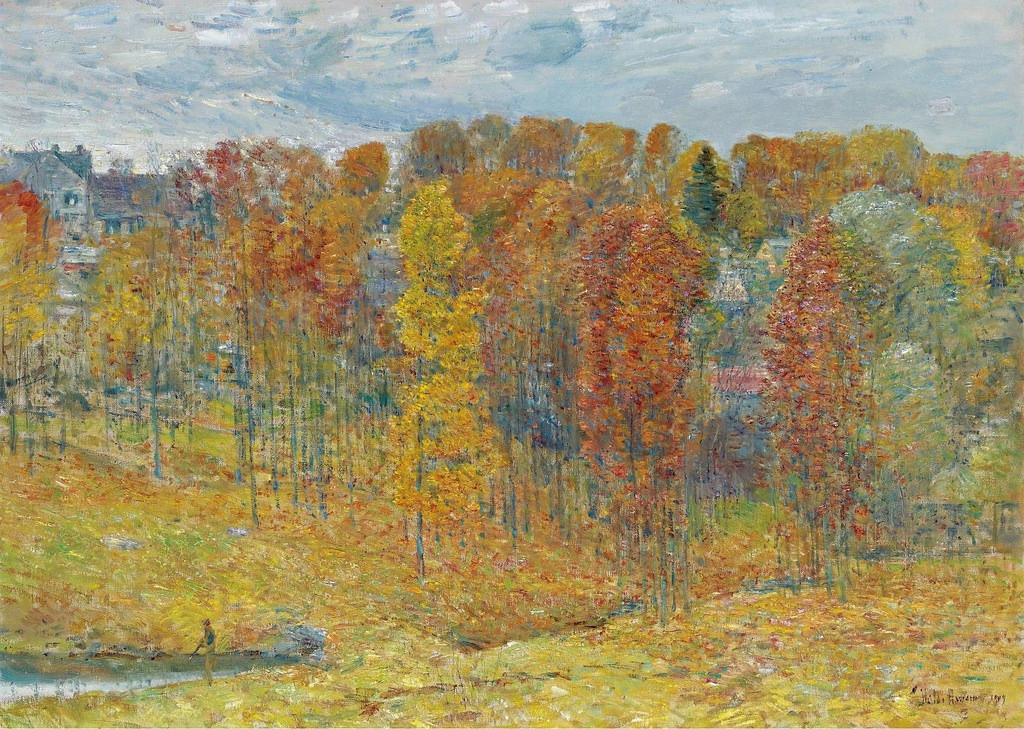 Frederick Child Hassam - Autumn [1909] (by Gandalf's Gallery)