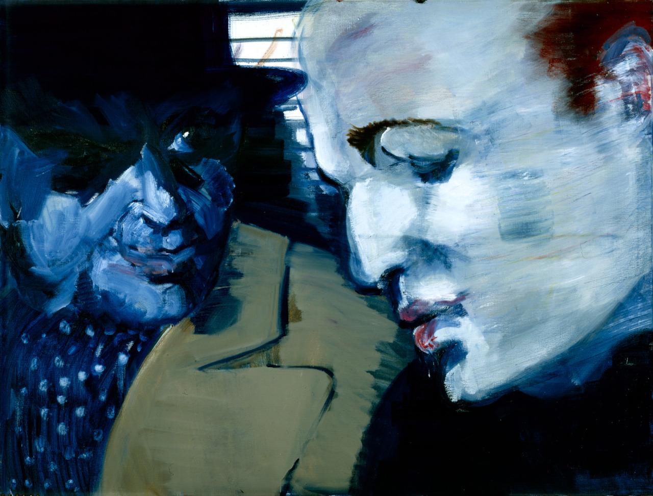 thunderstruck9:  Rainer Fetting (German, b. 1949), Brando - Steiger, 2004. Oil on canvas, 120 x 160 cm.