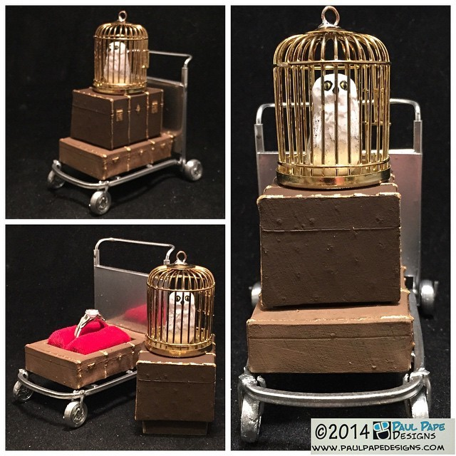 #HarryPotter #PlatformNineandThreeQuarters #luggagecart #custom #engagement #ringbox by #paulpapedesigns