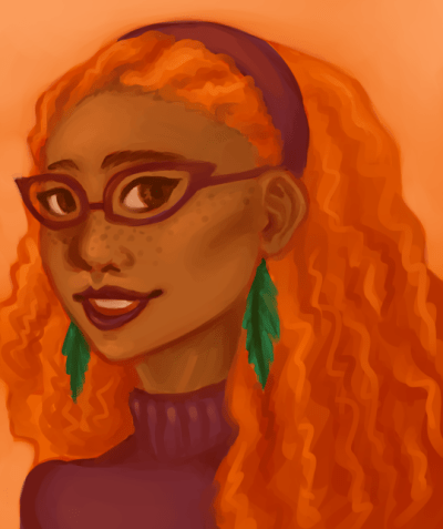 Todays huevember! Wanted to draw someone with red hair, and the first character I thought of was the lovely Penelope Bunce! Ideally id give her less orange hair but i think she rocks that Daphne look <3