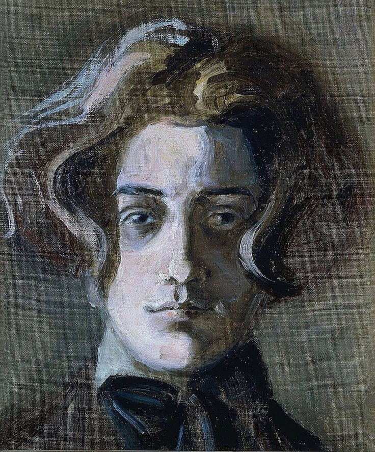 dappledwithshadow:  Egon SchieleSelf-Portrait with Long Hair1907 (age 16)