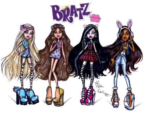 Bratz by Hayden Williams. Cloe, Yasmin, Jade & Sasha