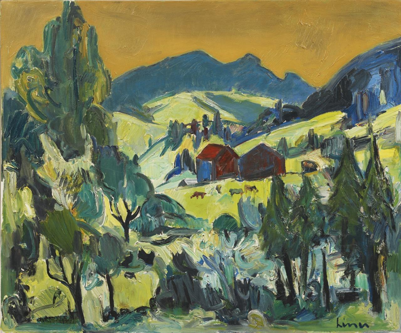 thunderstruck9:  Carl Walter Liner (Swiss, 1914-1997), Appenzeller Landschaft [Appenzell landscape], Oil on canvas, 95 x 115.5 cm.