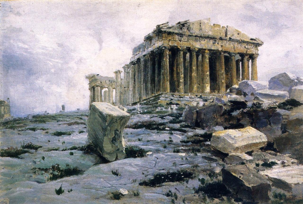 Vasily PolenovThe ParthenonOil on Canvas29.8 cm (11.73 in.), Width: 43.3 cm (17.05 in.)