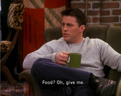 Image result for joey and food