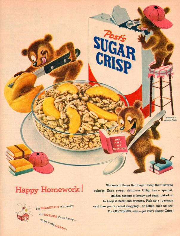 Post Sugar Crisp - 1954