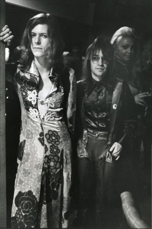 David Bowie and Rodney Bingenheimer
