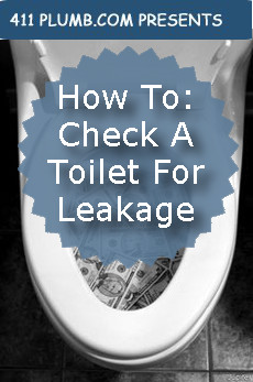 How To Check A Toilet For Leakage