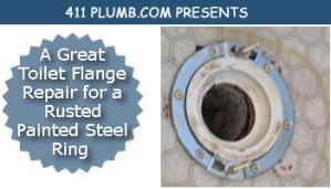 A Great Toilet Flange Repair for a Rusted Painted Steel Ring