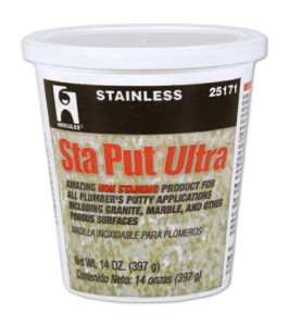 Hercules Sta Put® Ultra™ Non-Staining Plumber's Putty is now available under the Oatey Brand Name.