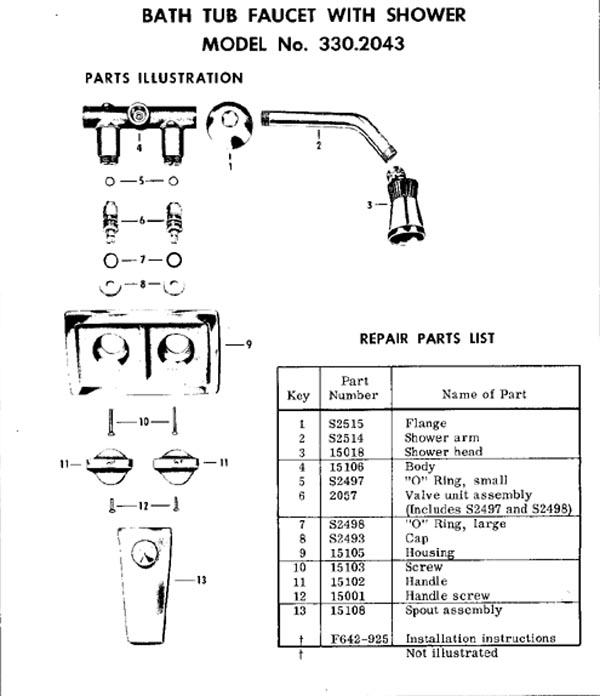 Bathroom Tub Parts: Bathtub Faucet Repair Question
