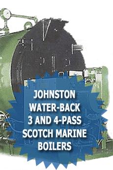 Johnston 3 and 4 pass scotch marine boilers