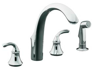 Marvelous Kohler Forte 2 Handle Wide Spread Kitchen Sink Faucet
