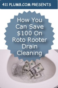 How You Can Save $100 On Roto Rooter Drain Cleaning