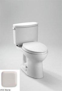 TOTO CST454CEFG#03 Drake II Two-Piece Toilet 1.28 GPF with SanaGloss, Bone