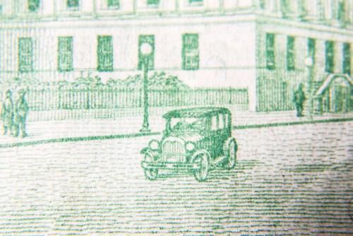 Macro on a $2 bill
