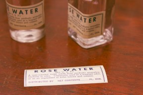 rose water vintage apothecary labels
